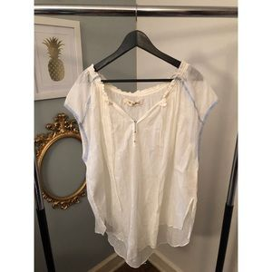 Free People Flowy White Top Size S NWT.